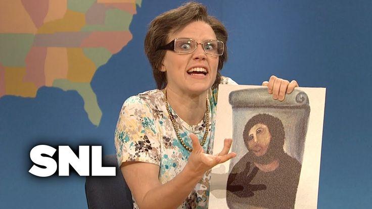 Weekend Update: Cecilia Gimenez on Ruining a Portrait of Jesus - SNL - YouTube