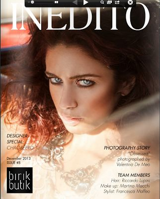 Tout Court Moi's necklace on the cover of Inedito...