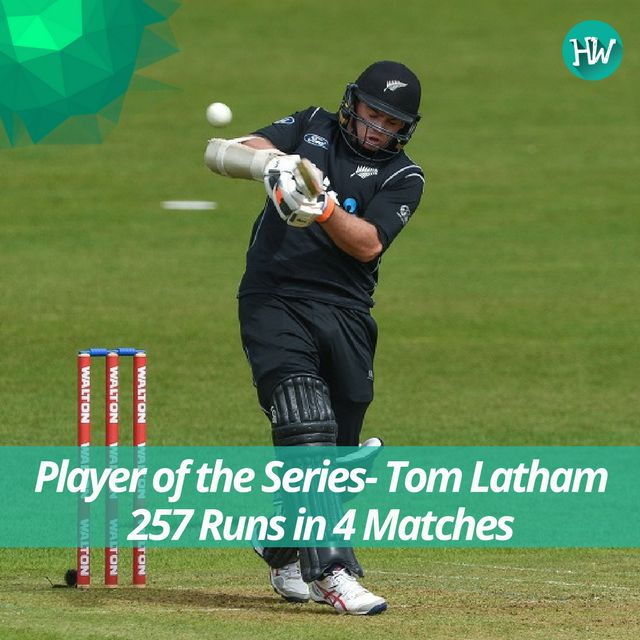 The Player of the Series was undoubtedly Tom Latham for hitting 2 half centuries and a 100 in the tri-series! #BANvNZ #BAN #NZ #cricket