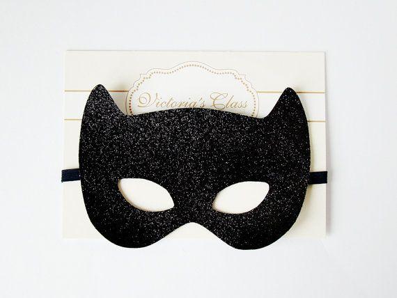 Bat Mask, Batgirl mask, Batman costume, Superhero mask, Batgirl Cosplay, Bat Halloween Costume, Bandit Black Mask,Batgirl Birthday Halloween Fun