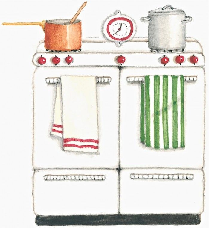 """Vintage stove... would love a pink one but i want the advantage of the new """"self-cleaning"""" ovens!"""
