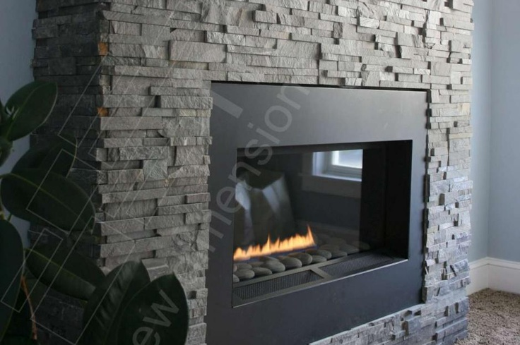 Stacked Stone Tile Tile Pinterest Fireplace Inserts Fireplaces And Nooks