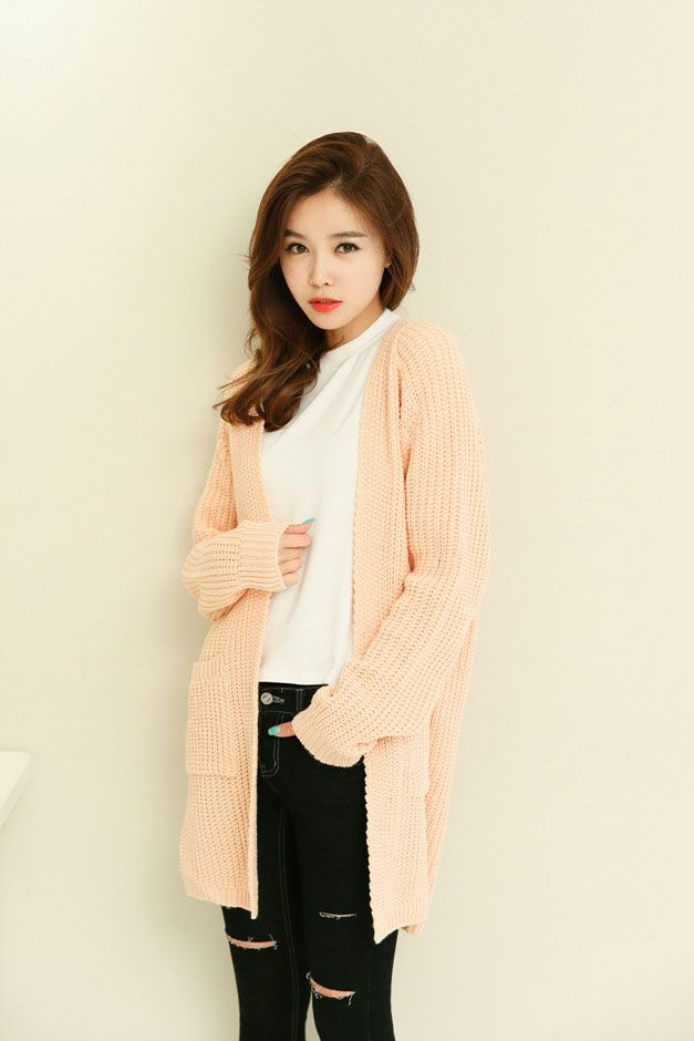 Spring Long Knit Cardigan