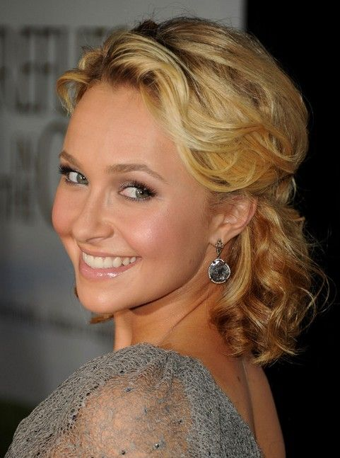 hair styles curls hayden panettiere medium length hair half up half 7365