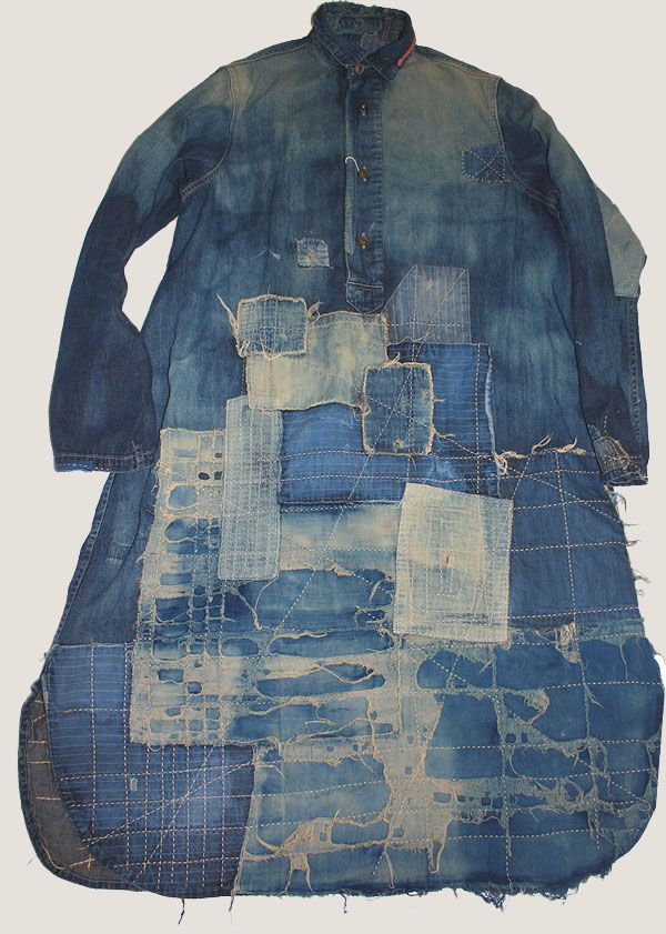 sashiko - inspirational patchwork. A saying from Japan is that any piece of fabric big enough to wrap a bean is useful. As a weaver, I approve!