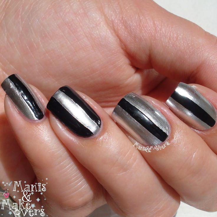 Manis & Makeovers: OPI Push and Shove nail art attempt