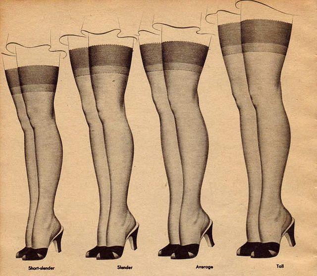 Nylon Retro Inspired Classic Thigh High Stockings 2001