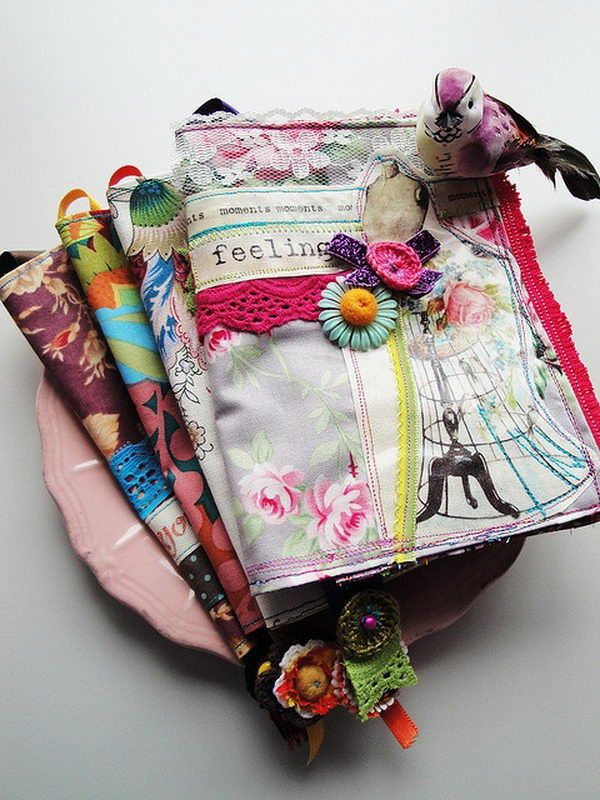 Book Cover Diy Xavier : Images about fabric art journals on pinterest