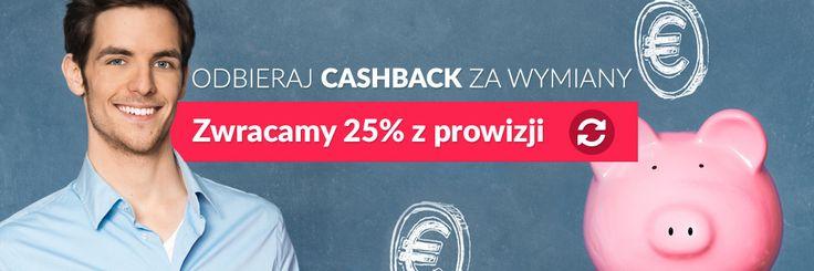 Amronet.pl Odbierz CASHBACK za wymiany. Zwracamy 25% z prowizji. Polecaj Amronet.pl i zarabiaj z nami. To się opłaca, wypłaciliśmy już naszym Partnerom kilkadziesiąt tysięcy prowizji, zapraszamy do kontaktu z naszymi Ekspertami Walutowymi :-)