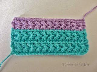 le Crochet de Pandore: Tuto du point étoile (star stitch)