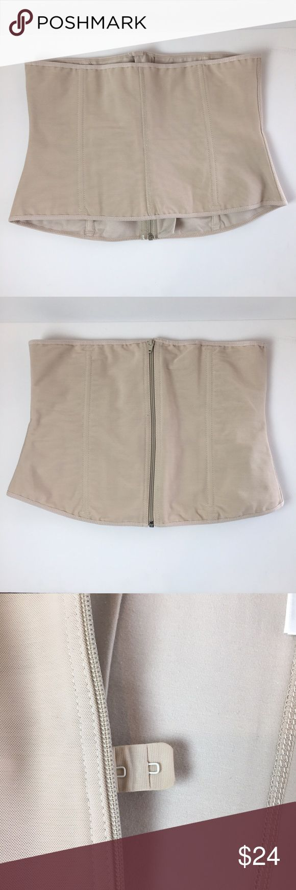 "Ann Chery Nude Waist Cincher. XXL Waist Cincher. 1024. Nude. Zip up and eye hook closure. Size XXL/40. Fits regular torso 11"". Comfort fit for less compression. Nice pre-owned condition. #E Ann Chery Intimates & Sleepwear Shapewear"