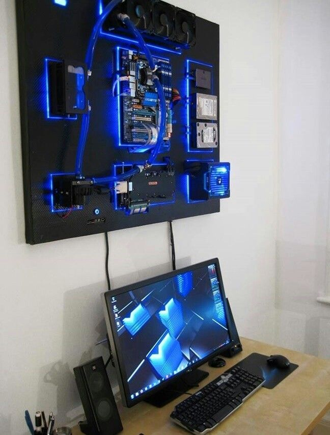 Pin By James Dyer On Video Games Wall Mounted Pc Gaming
