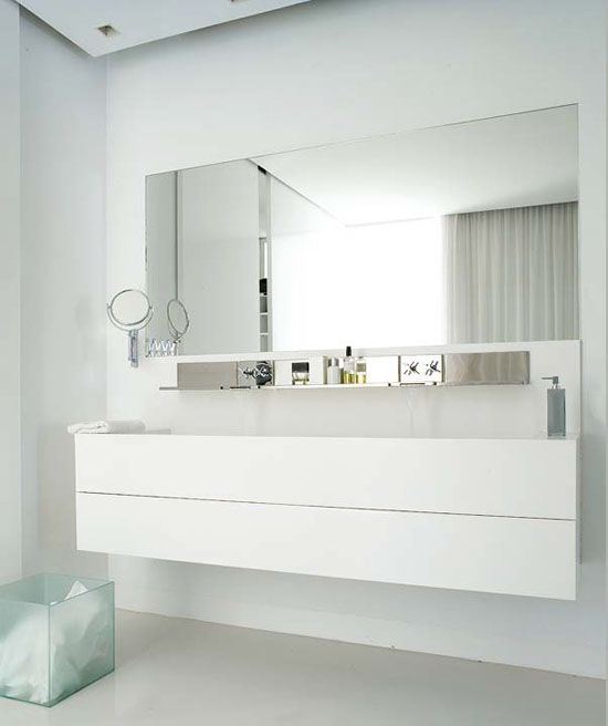 Holy clean bathroom. So pretty and white.  How much work to keep it that way? Hmmm...