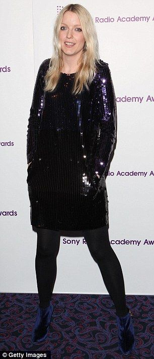 Stunned: Lauren Laverne, who looked very pretty in her sequined dress, was left gobsmacked at Morgan