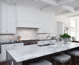 calacatta vicenza quartz prefabricated countertop