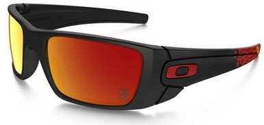 Oakley Ferrari Fuel Cell Sunglasses with Matte Black Frame and Ruby Iridium Lenses  I have these!