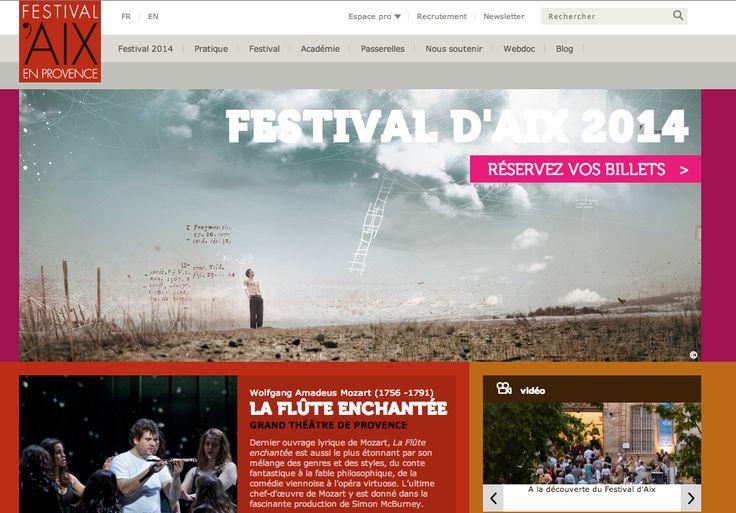 http://www.festival-aix.com/ Colour Scheme