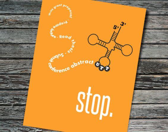 Stop Codon Nerdy Retirement Card Molecular by NerdyWordsGifts