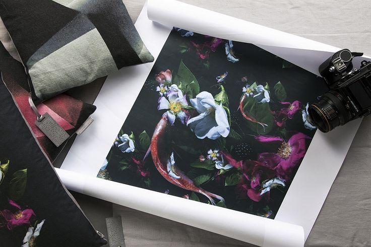 'Floral Fish' A/W14 Photographic Textile Design