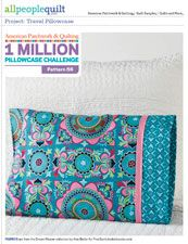 """Travel Pillowcase pattern from All People Quilt Finished pillowcase: 18×13"""" (fits a 16×12"""" travel pillow)"""