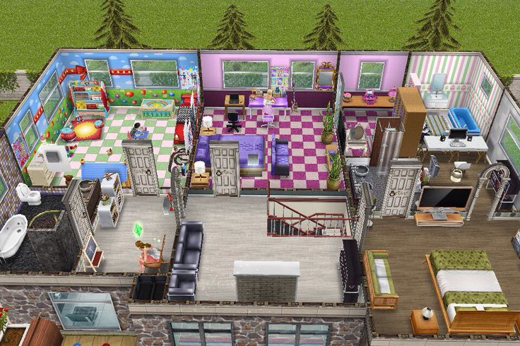 House 3 / 2nd Building / 2nd Floor Plan | Sims Freeplay   House Design 3  (modern House) | Pinterest