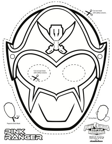 SUPER MEGA Power Rangers Printable - Coloring Masks | All Mommy Wants                                                                                                                                                                                 More