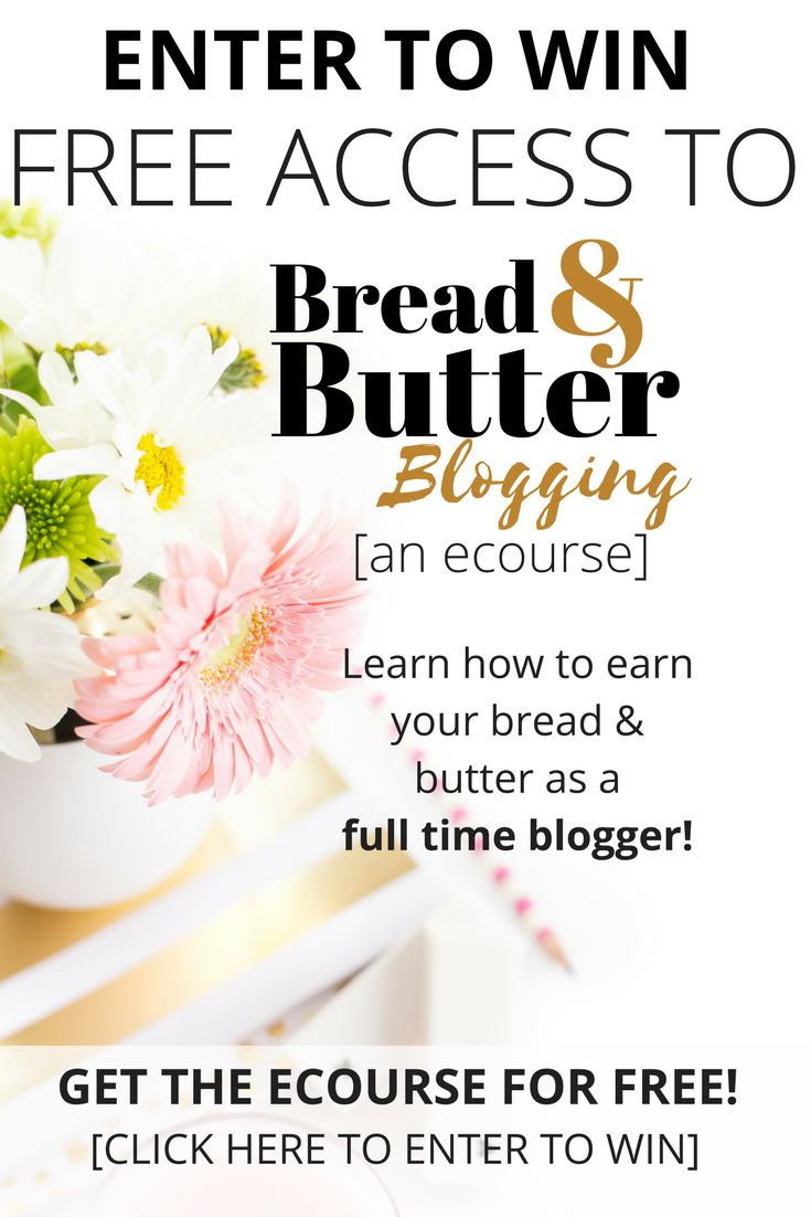 I'm giving away 5 free seats to this ecourse - enter to win now! Learn how to monetize your site and make money blogging.
