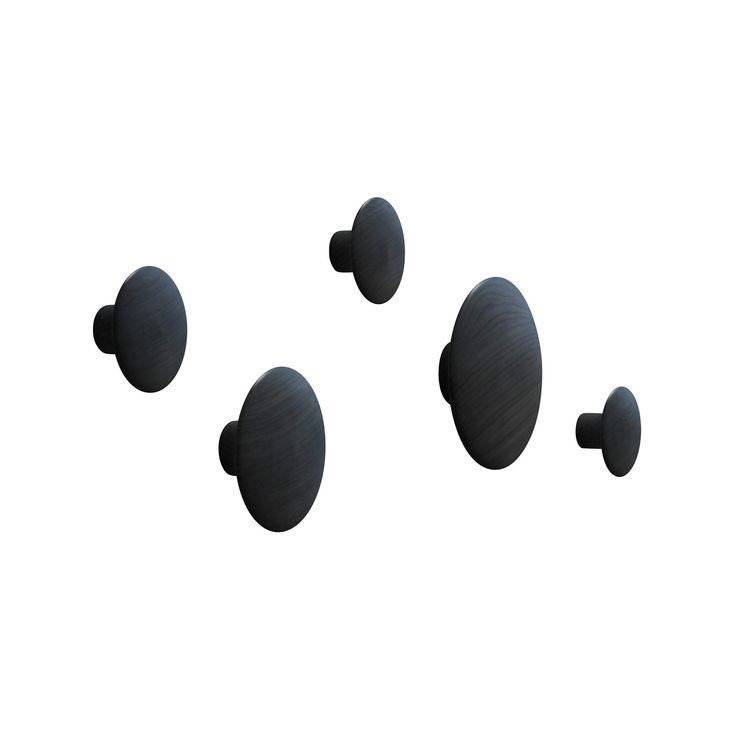 Vill ha! The Dots hängare 5-pack, svart i gruppen Hall / Krokar & Hängare hos RUM21 AB (101162)