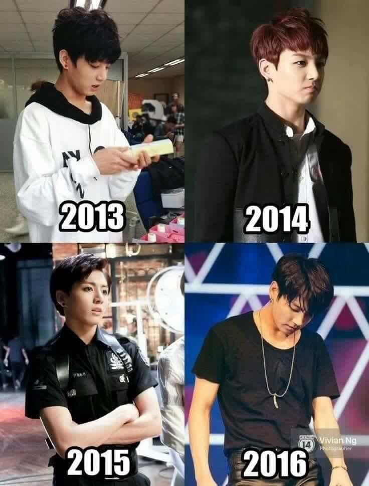 A evolução de néon Jungkook