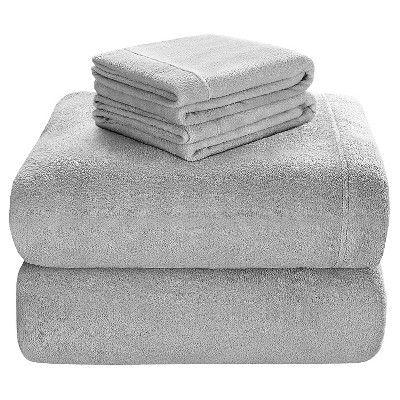 Soloft Plush Sheet Set (Queen) Gray