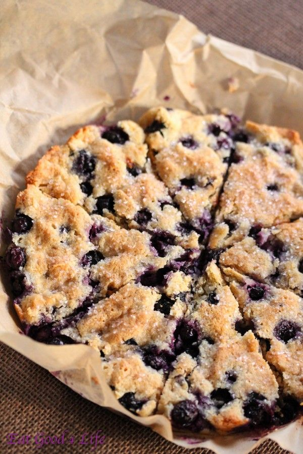 Gluten free blueberry coconut scones from eatgood4life (almond flour based).  Easy and tasty.  Texture is more cake like (moist but dense).