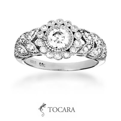 Tocara Emily ring | Sterling Silver - Rhodium plated - DiAmi