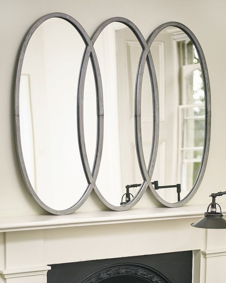 mirrordeco.com — Lilly Mirror - Large Oval Silver Frames W:108cm