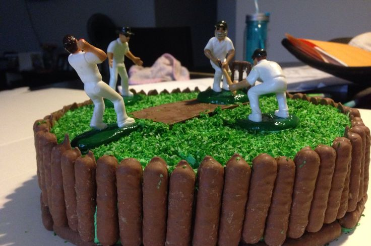 Cricket Birthday Cake With Name