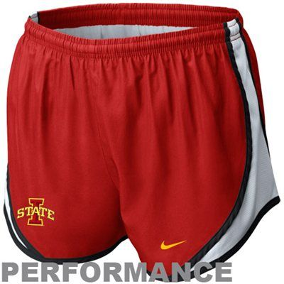 Nike Iowa State Cyclones Ladies Tempo Performance Shorts -  Cardinal