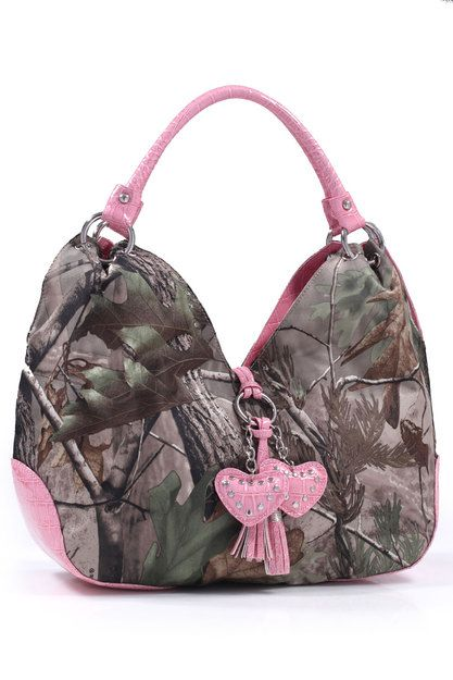 Realtree® Camo Pink Hearts Handbag