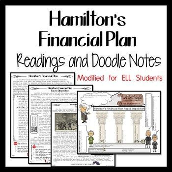 Are your ELL students struggling with Alexander Hamilton's Financial Plan and National Bank? Try a new resource that includes Word Wall terms, a reading, Doodle Notes, and processing activity. The lesson has been modified for ELL students by simplifying the text, adding Word Wall images and terms, providing for