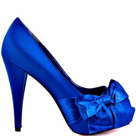 Destiny - Royal Blue Satin by Paris Hilton OMG I NEED THESE!!!! Im so mad they are sold out! they are perfect!!!!!!!!!!!