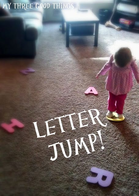 Toddler Activities: Letter Jump!