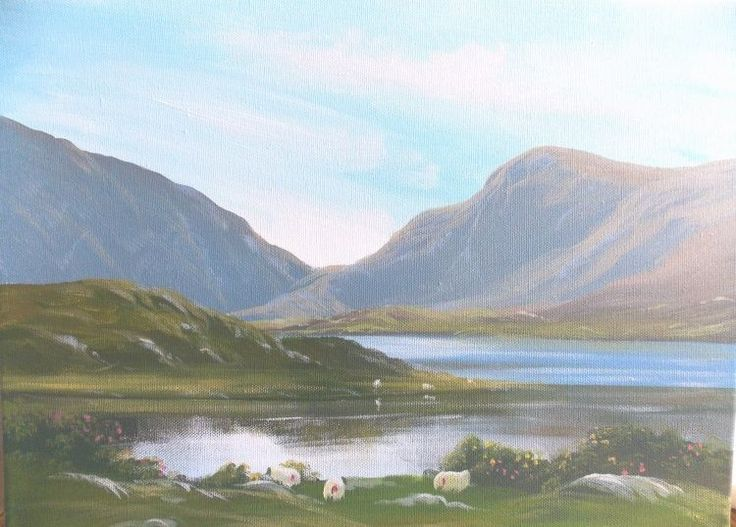 killarney-national-park.jpg - Painting,  2x16x12 in ©2013 by Cathal O Malley -              painting killarney national park co kerry