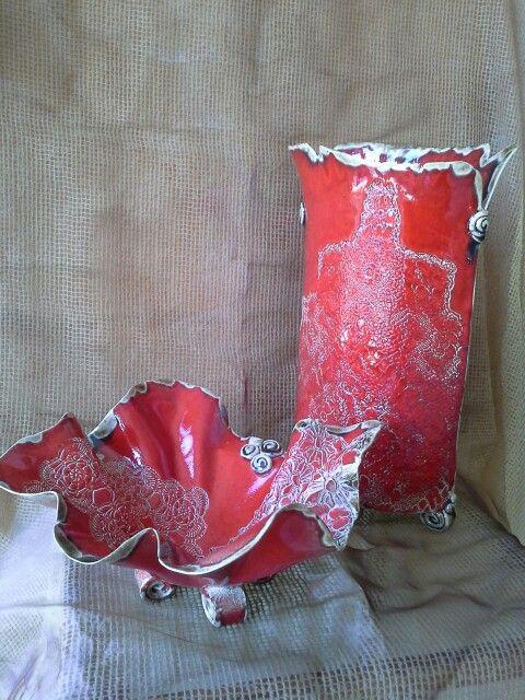 Váza, tál porcelán fajansz