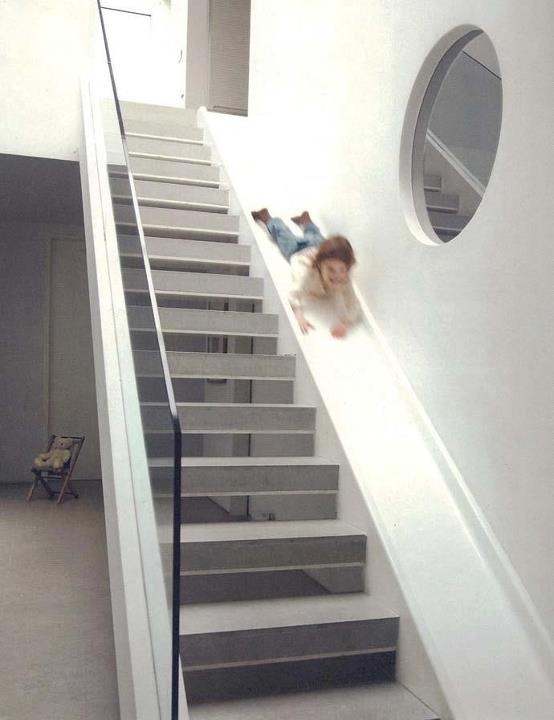 Staircase Slide by London architect Alex MichaelisIdeas, For Kids, Growing Up, Future House, Dreams House, Fun, Staircas, Stairs Sliding, Indoor Sliding