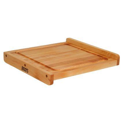 Countertop Edge Cutting Board : John Boos & Co.? Maple Edge-Grain Countertop Cutting Board with Juice ...