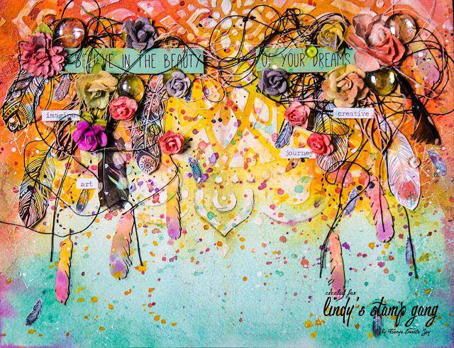 Enjoy your life: Разворот в арт-журнал и видео по созданию фона. Amazing Art Journaling. Video inspiration