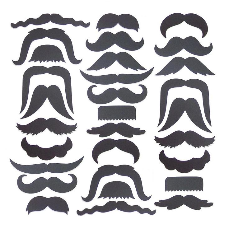 30 Mustache Cut Outs - Die Cuts - Photo Props - Party Decorations - Garlands - Party Straws - Photo Booths. $14.00, via Etsy.