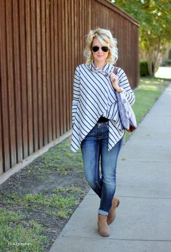 Hi Sugarplum   Fleece Wrap Cardi for a perfect cozy, Fall/Winter outfit