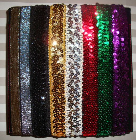 For softball: Sequin and Glitter Elastic Headbands Assorted by AndreaRDesigns, $2.50