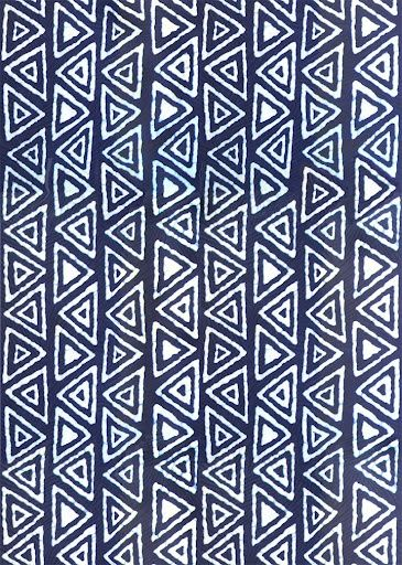 Blue and White Batik Fabric