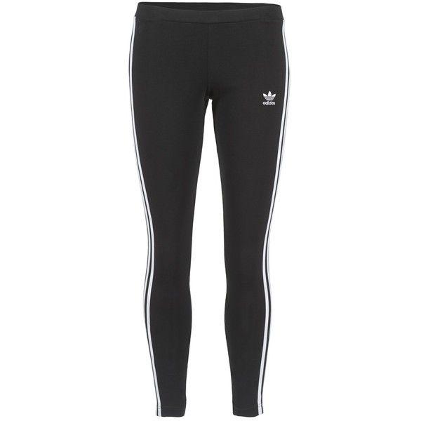 adidas Originals 3STR LEGGINGS Svart ❤ liked on Polyvore featuring pants, leggings, legging pants, adidas originals pants and adidas originals