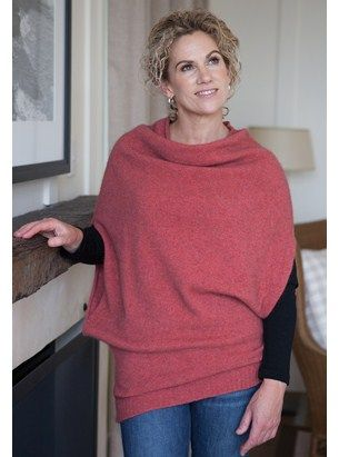 New at The Wool Company this versatile Merino Possum Cape from Snowi is a must have